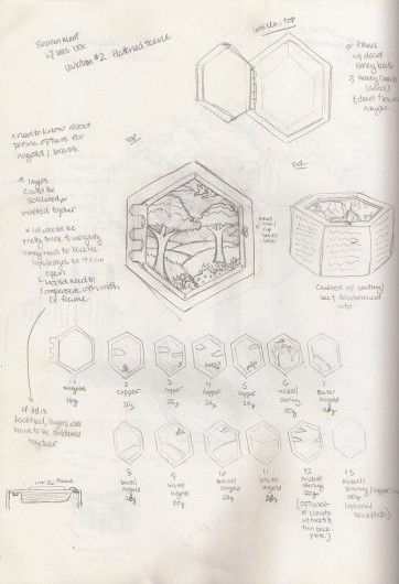 Honey Bee Box - Original Sketch