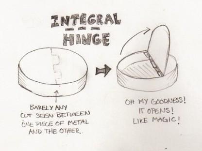 Integral Hinge