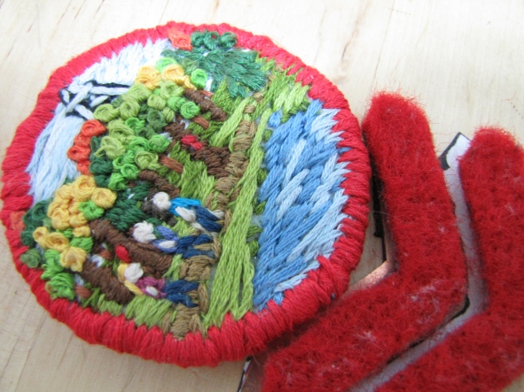 Tar Hollow brooch embroidery and felt