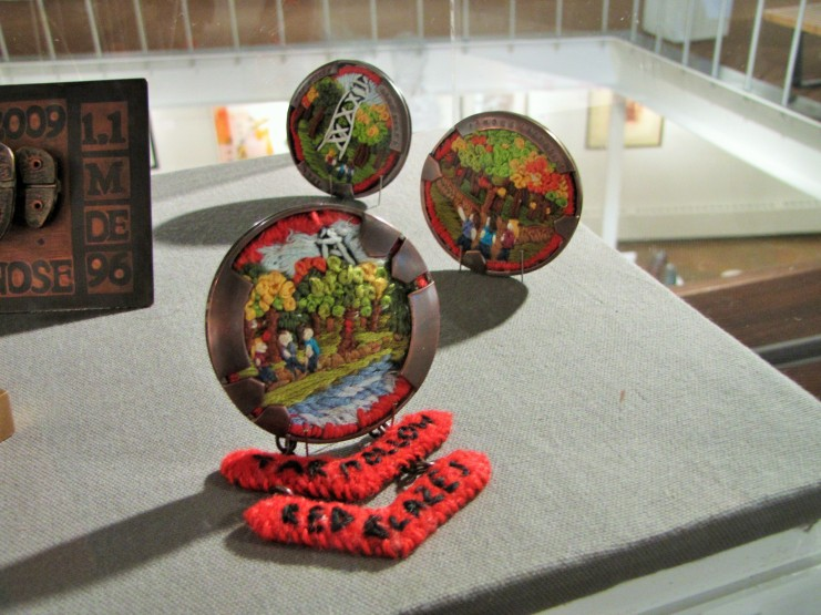 Tar Hollow Brooch Series, displayed beautifully