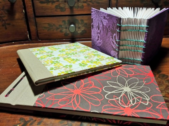 Scrap book binding, soft spine and coptic binding