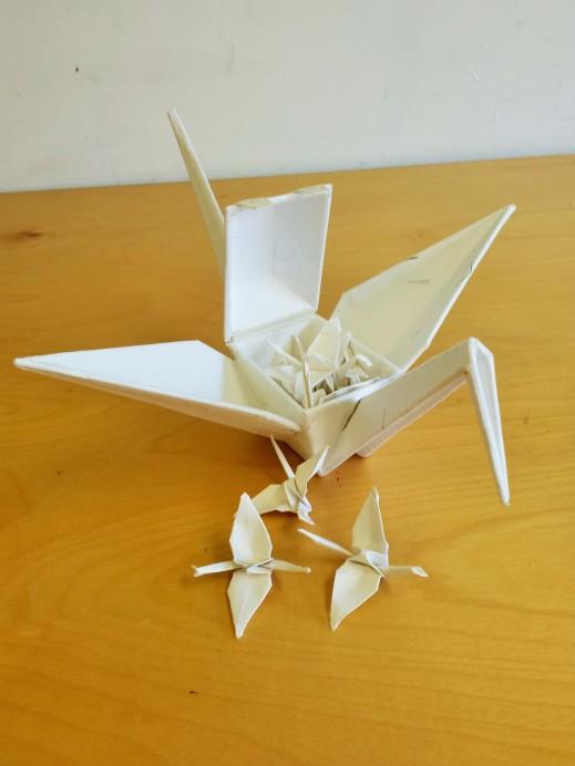 Paper Crane Box, open