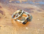 Citrine and Sapphire Stacking Rings