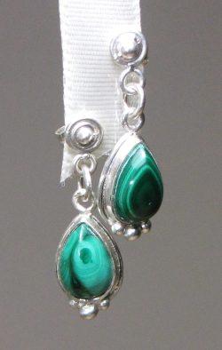 Malachite Drop Earrings