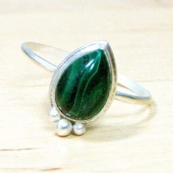 Malachite Drop Ring