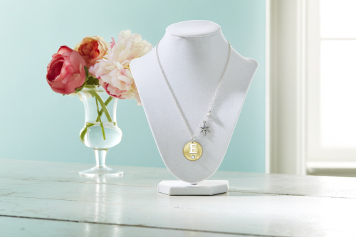 80438 Initial Birthstone Charm Necklace - March Free Jewelry Class
