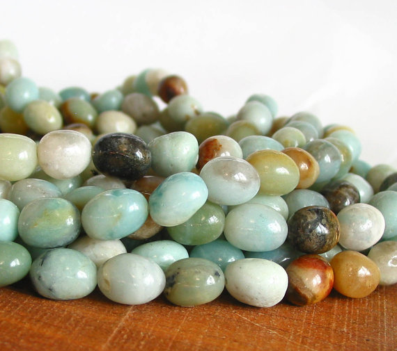 Amazonite pebbles (Photo: LifeForceGems at Etsy