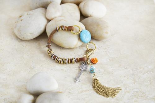 81034 Free Jewelry Class: Beaded Leather Bracelet - June Free Jewelry Class