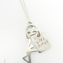 Only Good Vibes - I Love Dance Necklace