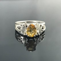 Peggy Citrine Ring