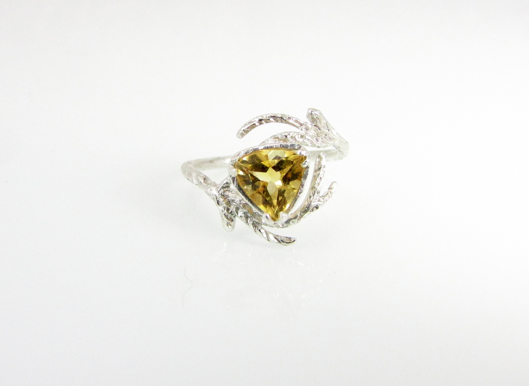 Branch Wedding Ring Citrine 1