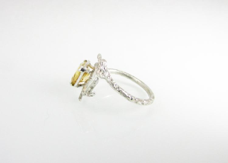 Branch Wedding Ring Citrine 2