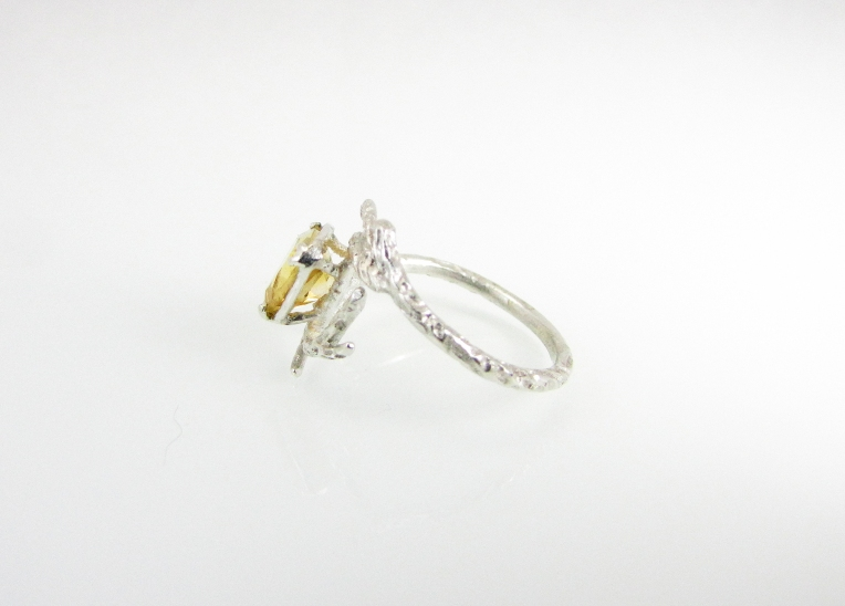 Branch Wedding Ring Citrine 2