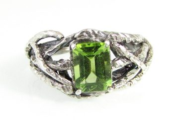 Peridot Handfast Branch Ring
