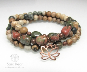 Courageous Lotus Wrap Mala