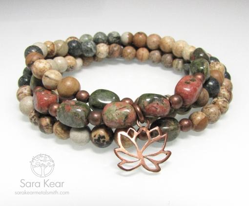 Courageous Lotus Wrap Mala