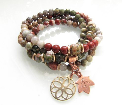 Fall Mandala Mala Bracelet