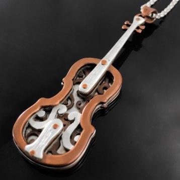 necklace - violin 1